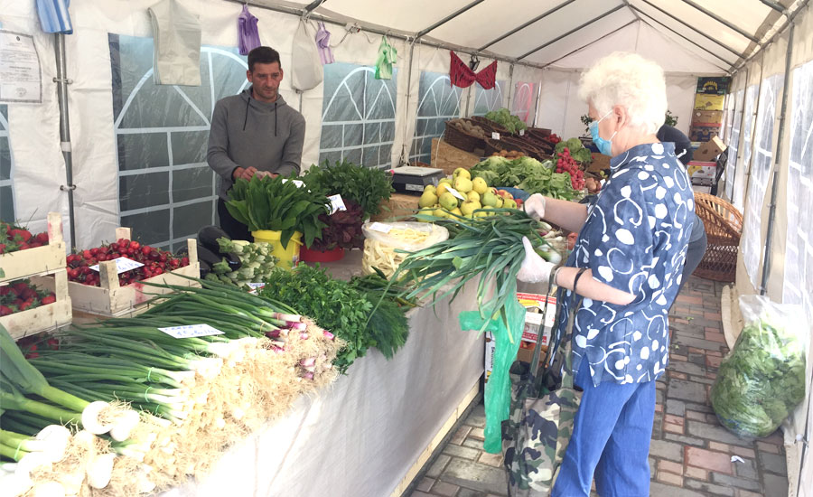 In piata agroalimentara La Strada