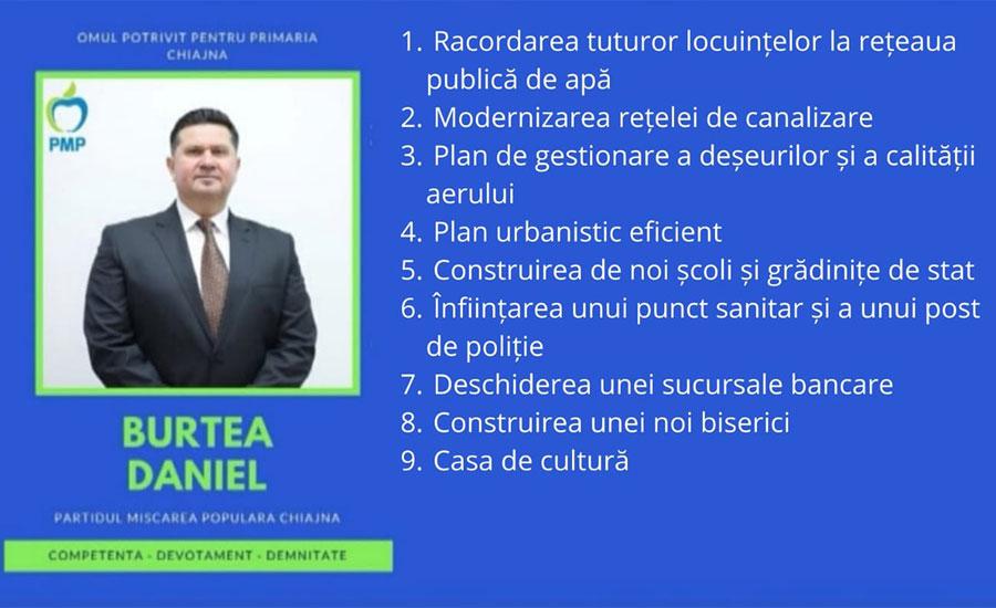 Obiectivele lui Daniel Burtea